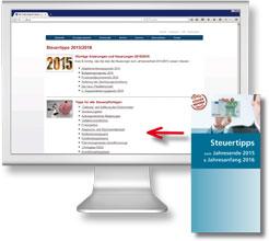 Steuertipps Bildschirm